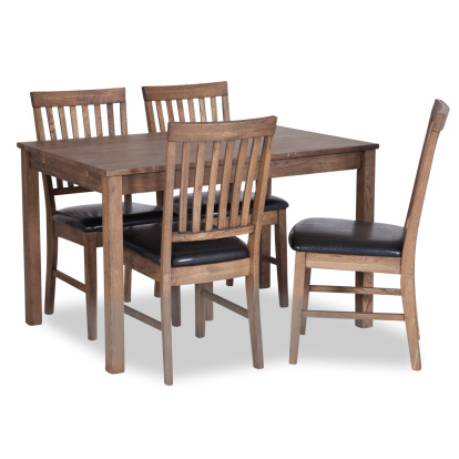 Dining furniture with clipping path. Studio isolated on white background.