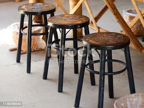 Thailand, Adjustable, Bar - Drink Establishment, Black Color, Brown