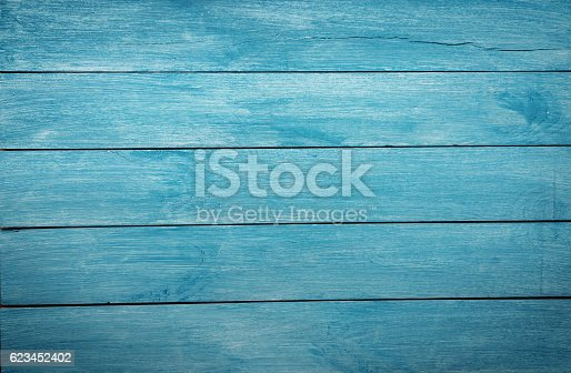 istock Wooden table background 623452402