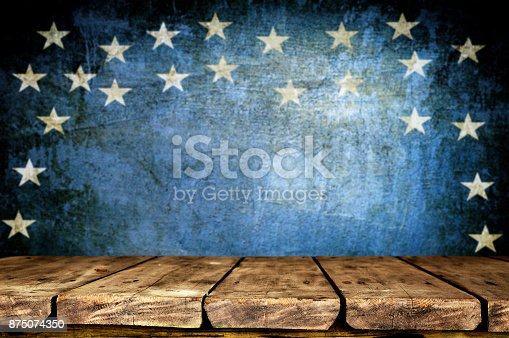 istock Wooden table background 875074350