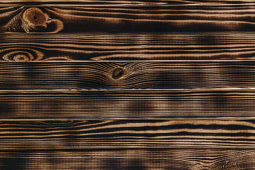 wooden table - background. Thin boards horizontal closeup