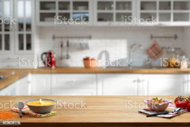 Wooden table on blurred kitchen interior background picture id923626176?b=1&k=6&m=923626176&s=612x612&h=bieqoxpk3k8r 4bgdwexr7s8o7zudm1y9hcxdurbinq=