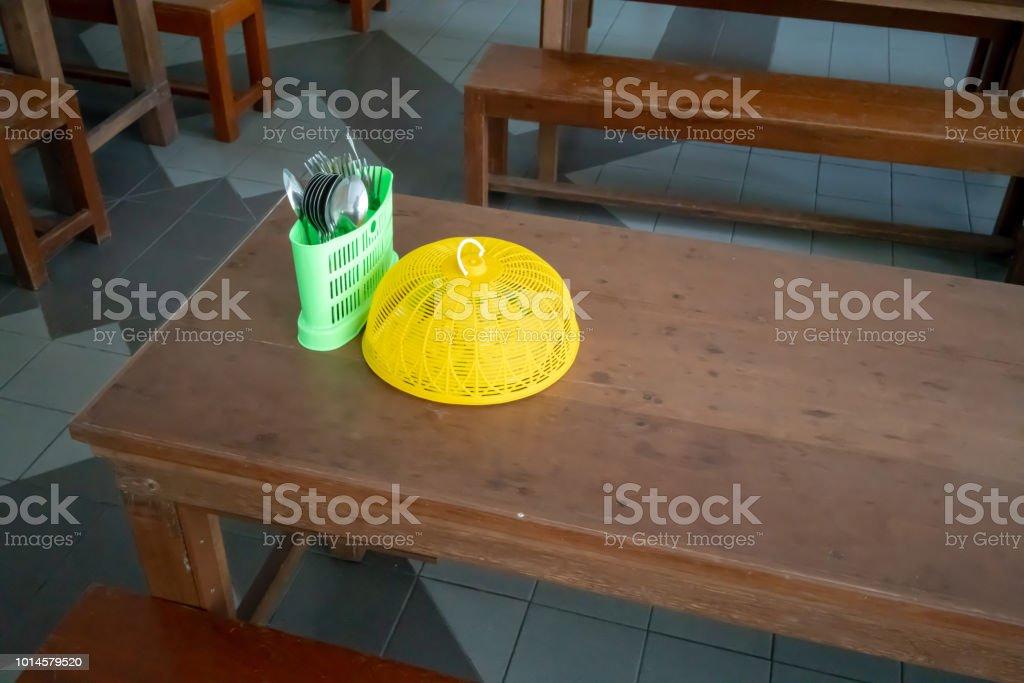Surprising Wooden Table Set Up With Long Bench For Kindergarten Creativecarmelina Interior Chair Design Creativecarmelinacom