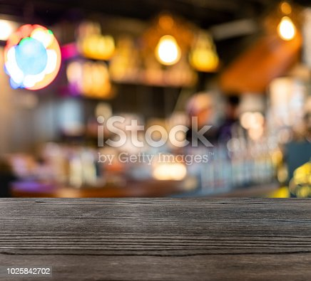 862429776 istock photo Wooden table top on blurred scene counter bar in coffee shop 1025842702