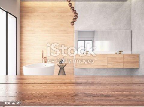 Modern bathroom. 3D Render