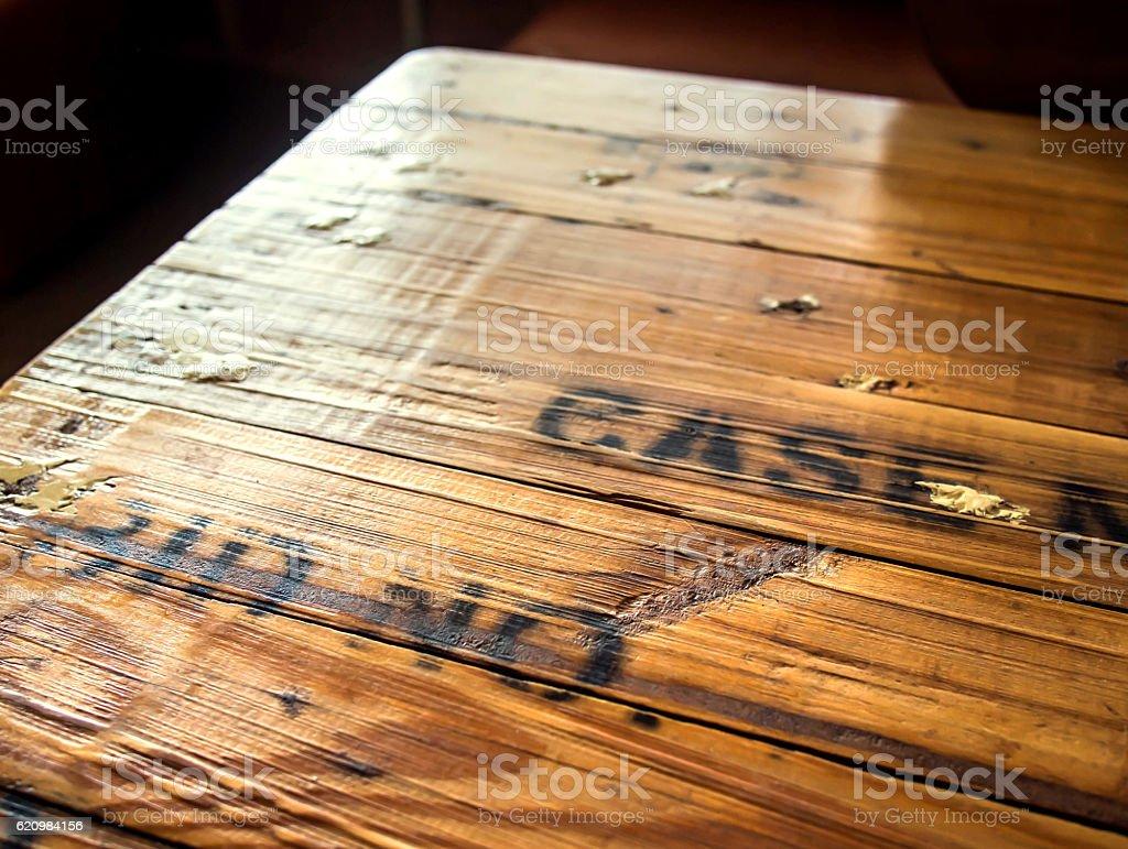 Mesa de madeira foto royalty-free