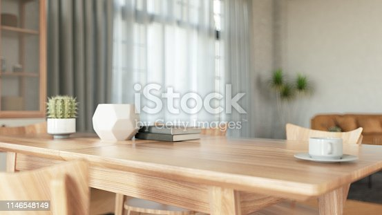 Wooden Table Top. 3D Render