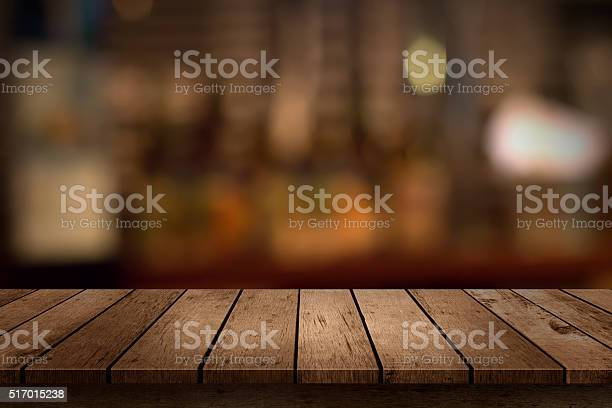 Wooden table with a view of blurred beverages bar backdrop picture id517015238?b=1&k=6&m=517015238&s=612x612&h=ysbckxfckxk4pnapwl2te25mfjd0tp1lumvgwc llje=