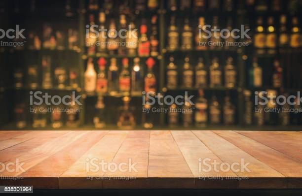 Wooden table with blurred counter bar and bottles background picture id838301964?b=1&k=6&m=838301964&s=612x612&h= tmqnc  y0d0rfoe5vyum5gs5izrbj58sv09tjm rlu=