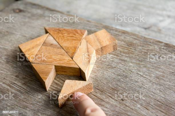 Wooden tangram puzzle wait to fulfill home shape for build dream home picture id868146922?b=1&k=6&m=868146922&s=612x612&h=wghj0lxnskbrinuv6t5lj2muoez1vpc1ygy05iiemry=