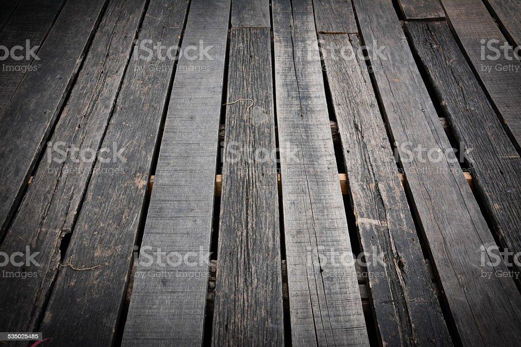 wooden terrace floor as background stock photo