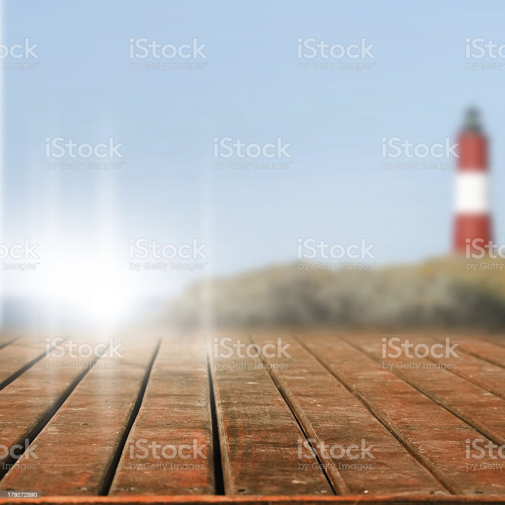 Wooden terrace royalty-free stock photo