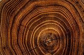 Acacia wooden dark texture background