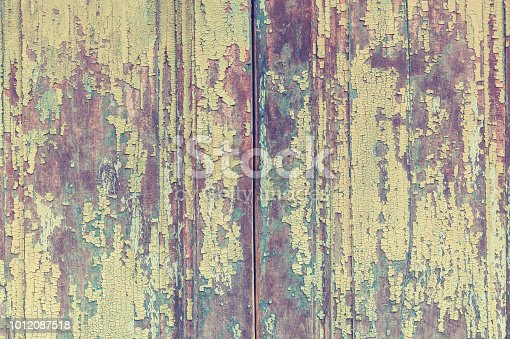 wooden texture of boards in old paint,pastel wood planks texture background .Retro style or vintage for design and creativity