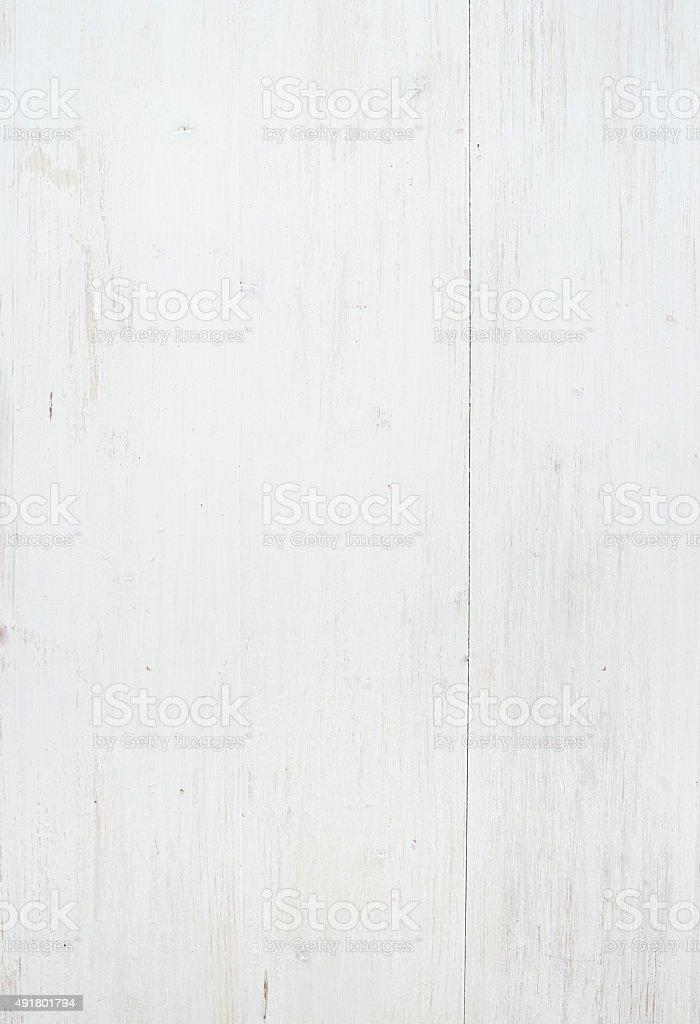 Wooden texture, white wooden background with kitchen napkin, vertical stock photo