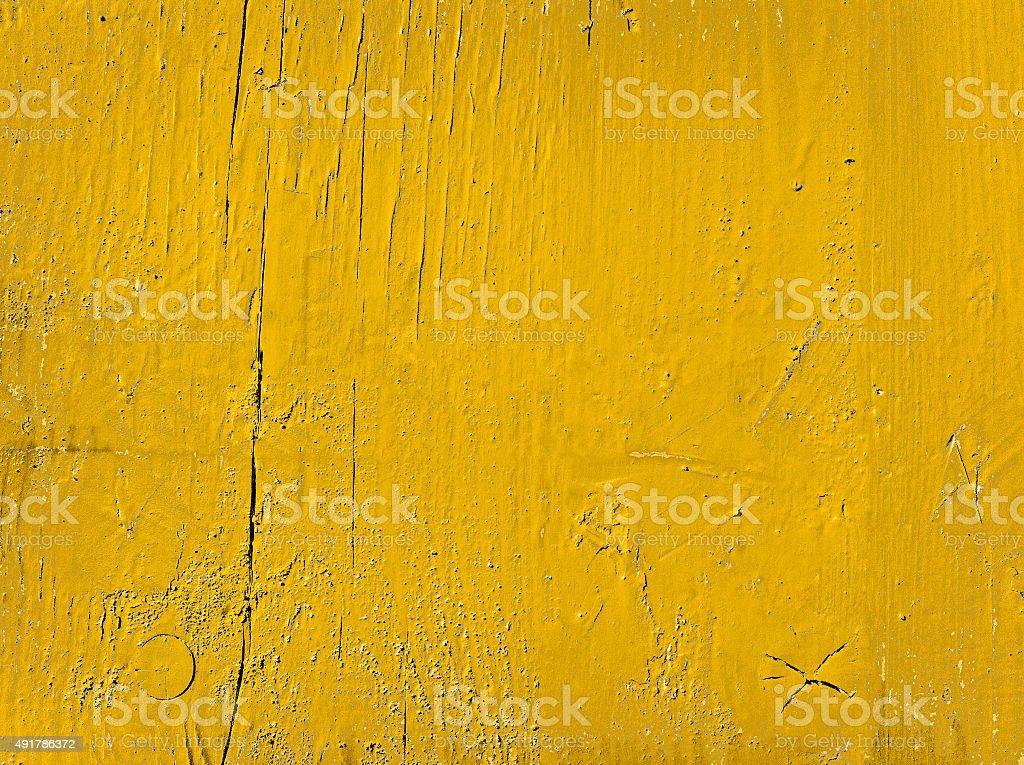Fundo de textura de madeira pintadas em amarelo brilhante cor - foto de acervo