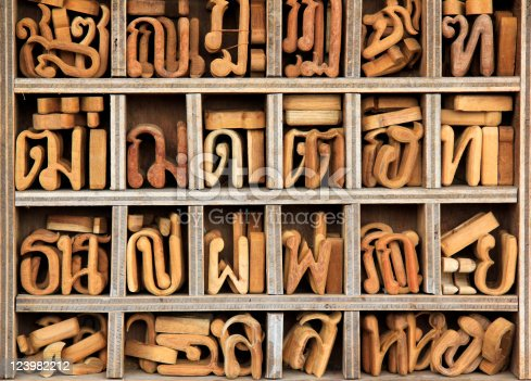 istock wooden thai language characters background 123982212