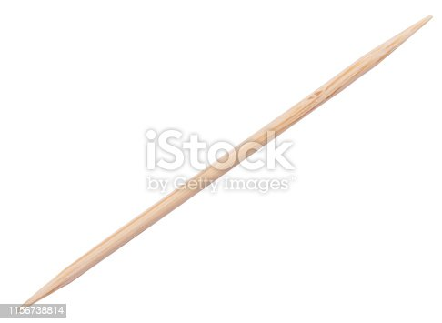 Wooden toothpick isolated on white background