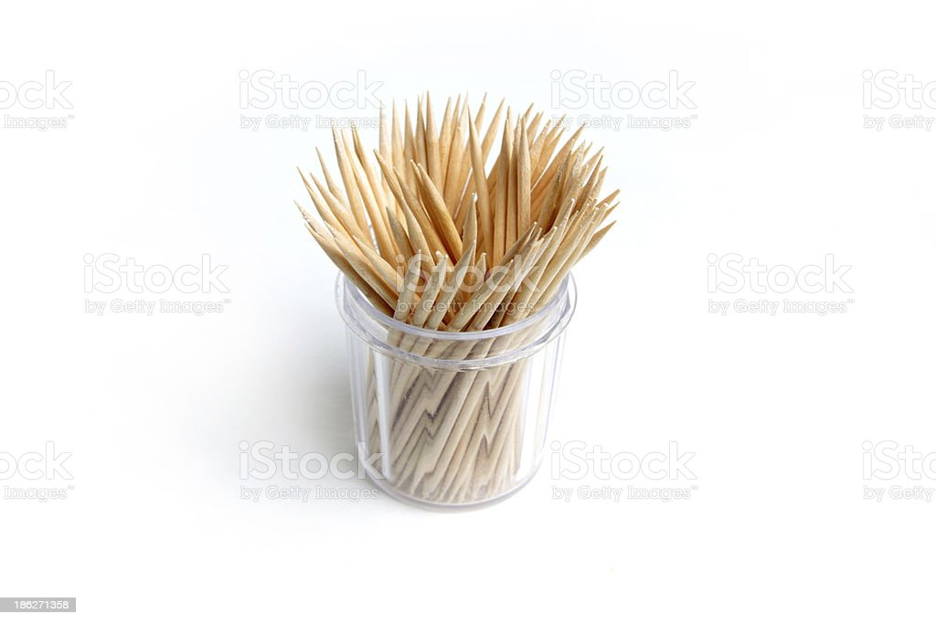 wooden toothpick royalty-free stock photo