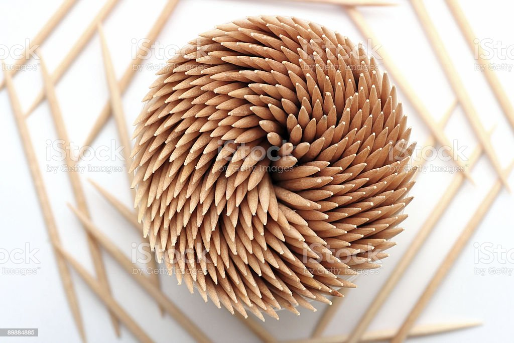 Wooden toothpicks royalty-free stock photo