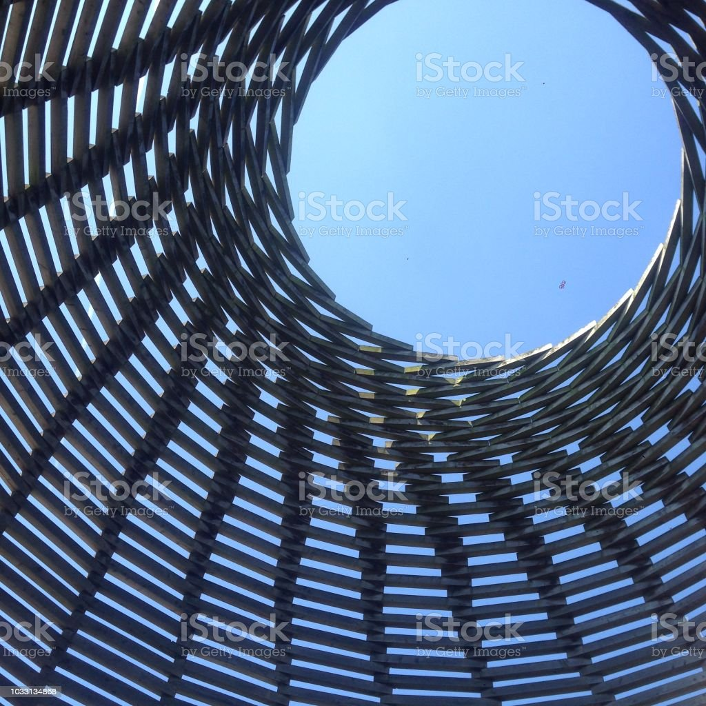 Wooden tower 1 stock photo