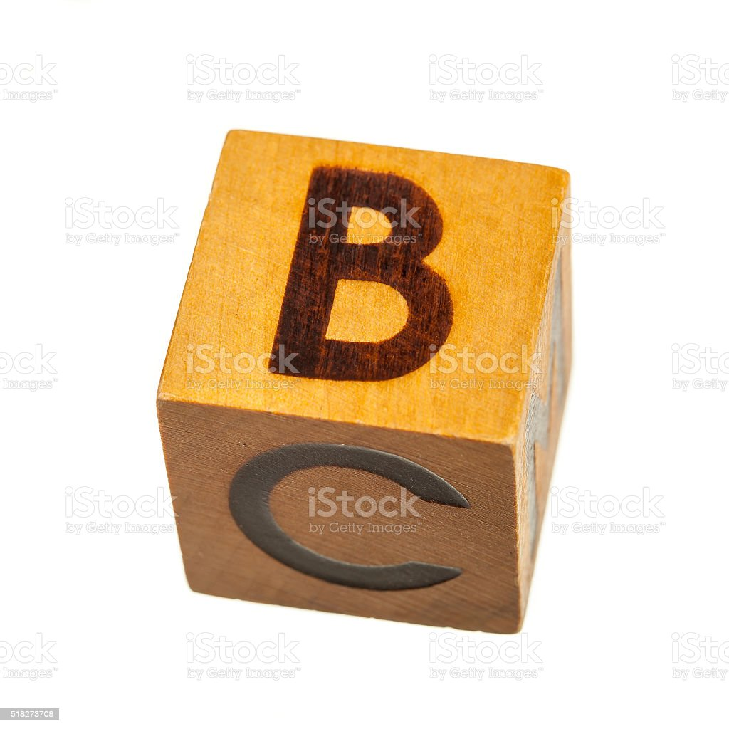Wooden Toy Block With Capital B Letter stock photo