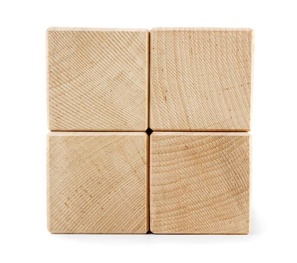 Wooden toy blocks stock photo