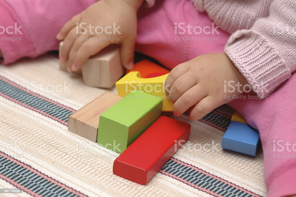 Wooden toy blocks royalty-free stock photo