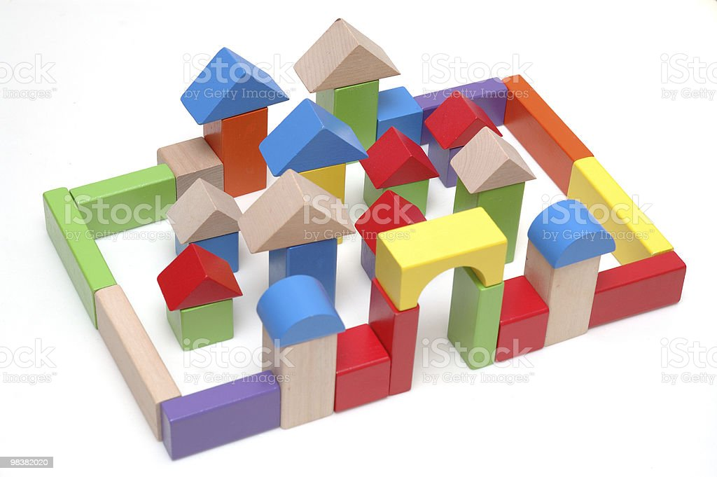 Wooden toy blocks royalty-free stock photo