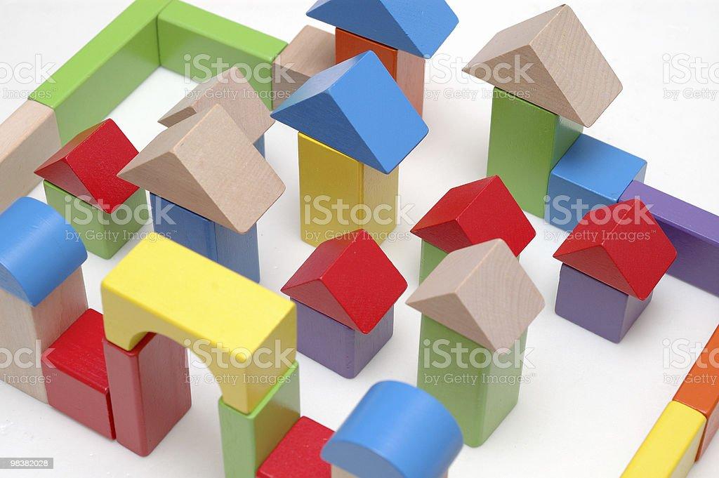 Blocchi di legno giocattolo foto stock royalty-free