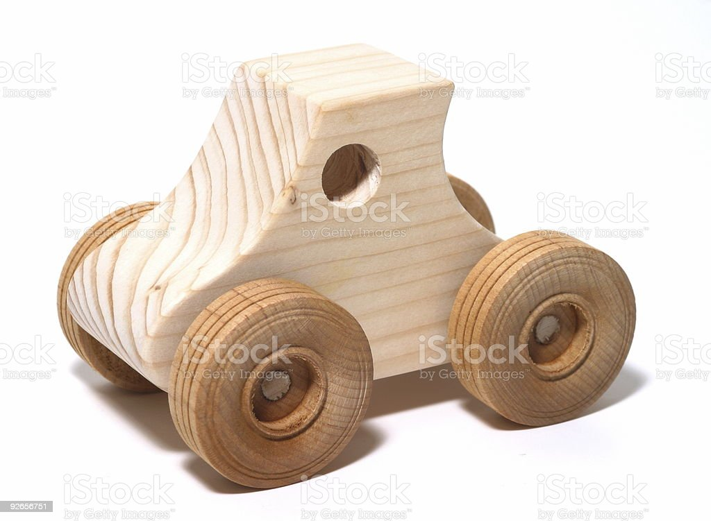 Wooden Toy Car royalty-free stock photo