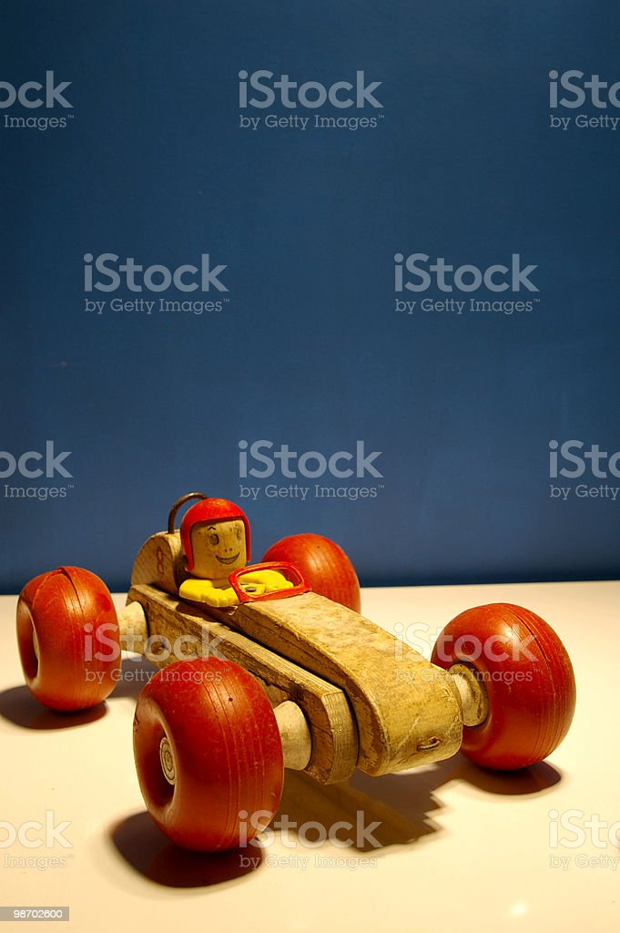 Auto giocattolo in legno foto stock royalty-free