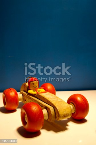 Wooden Toy Car Stock Photo & More Pictures of 1960-1969