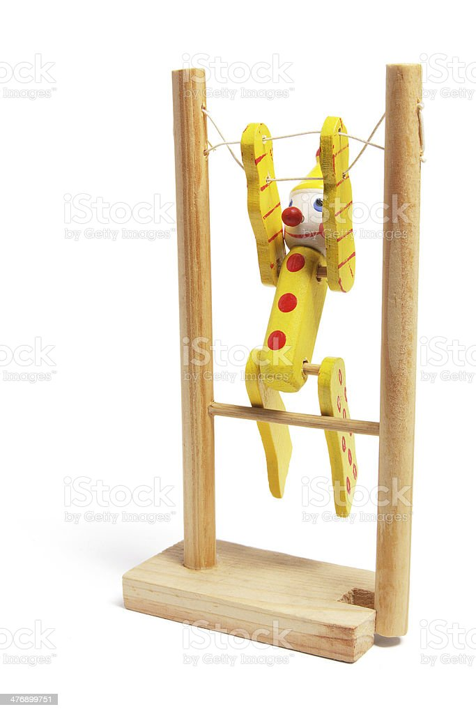 Wooden Toy Gymnast royalty-free stock photo