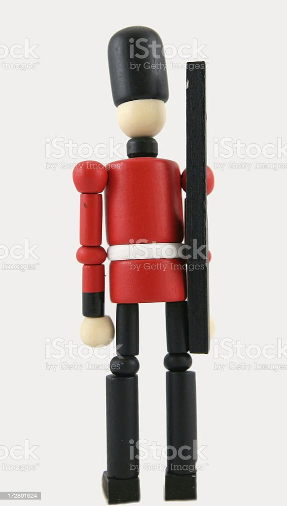 wooden toy soldier II royalty-free stock photo