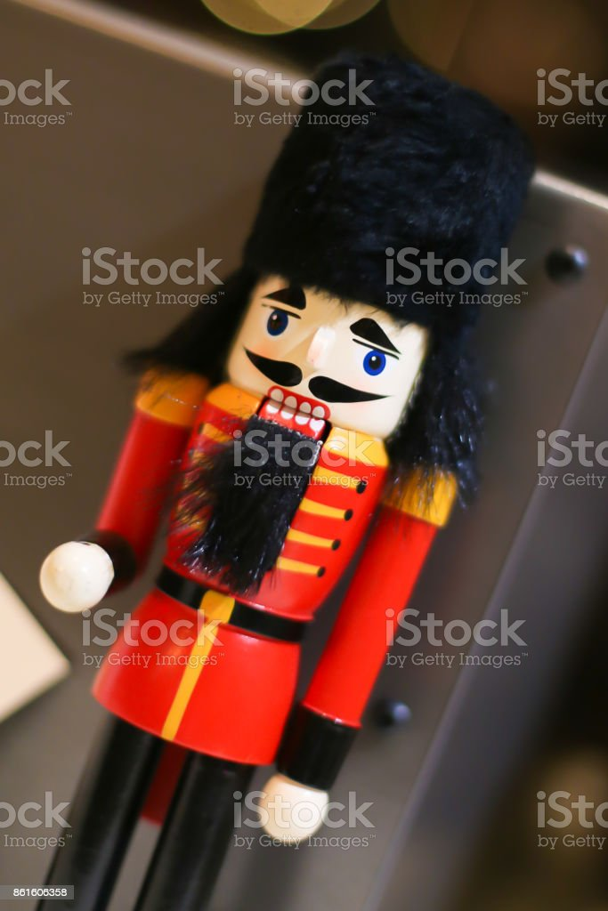 Wooden Toy Soldier stock photo