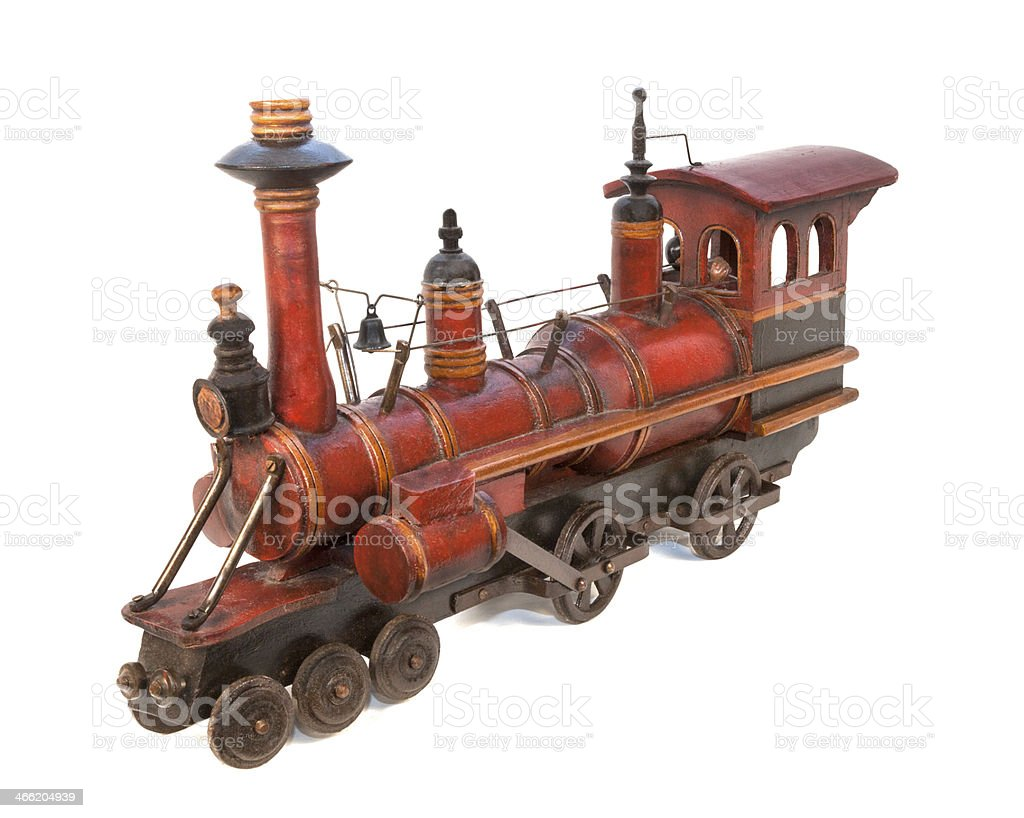 Wooden Toy Train 3 stock photo