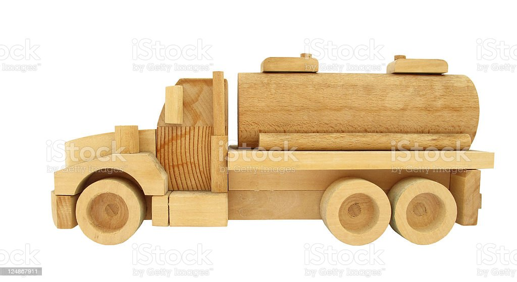 Wooden Toy Truck with Blocks