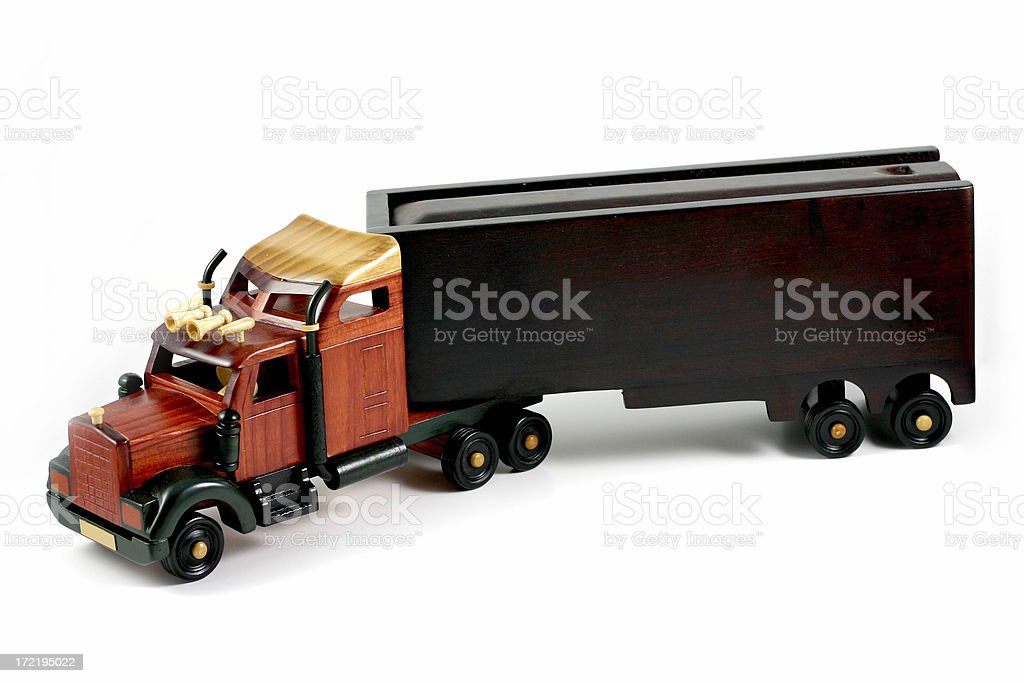 wooden toy truck. royalty-free stock photo
