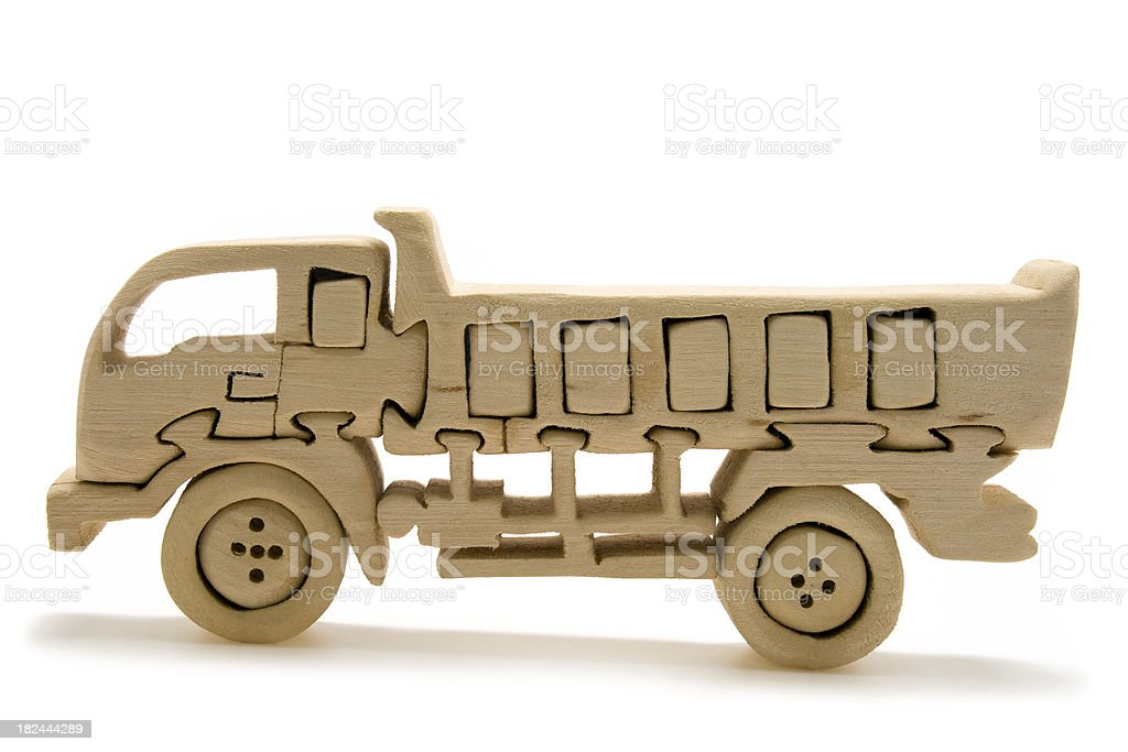 Wooden Toy Truck stock photo