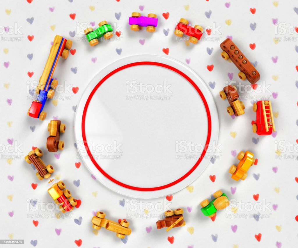 Wooden Toys and Frame royalty-free stock photo