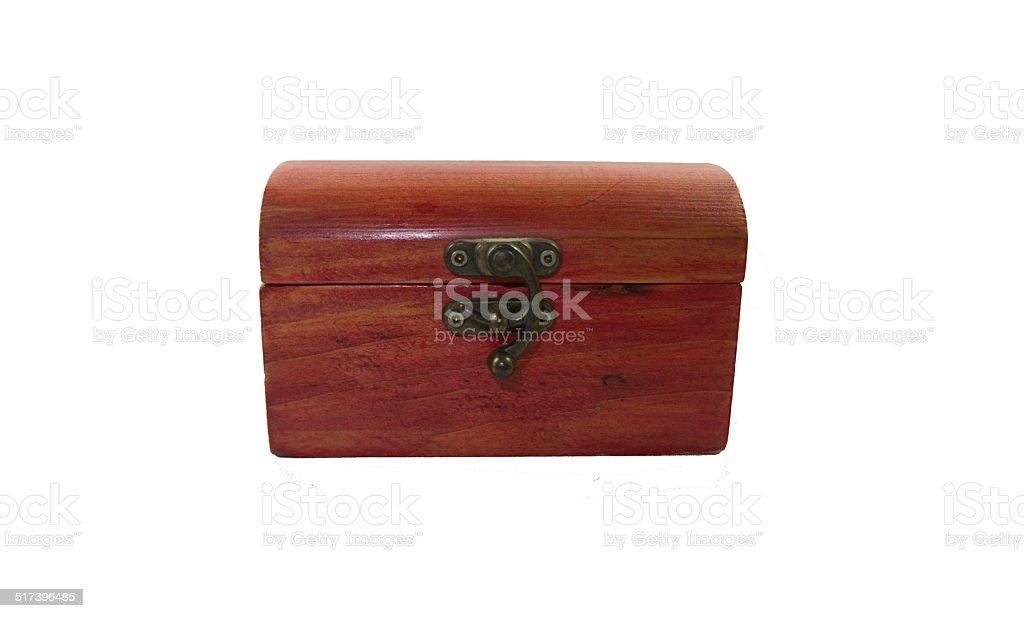 Wooden treasure box stock photo