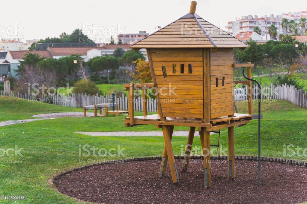 Stupendous Wooden Tree House Kids Playground Equipment Oeiras Portugal Download Free Architecture Designs Scobabritishbridgeorg
