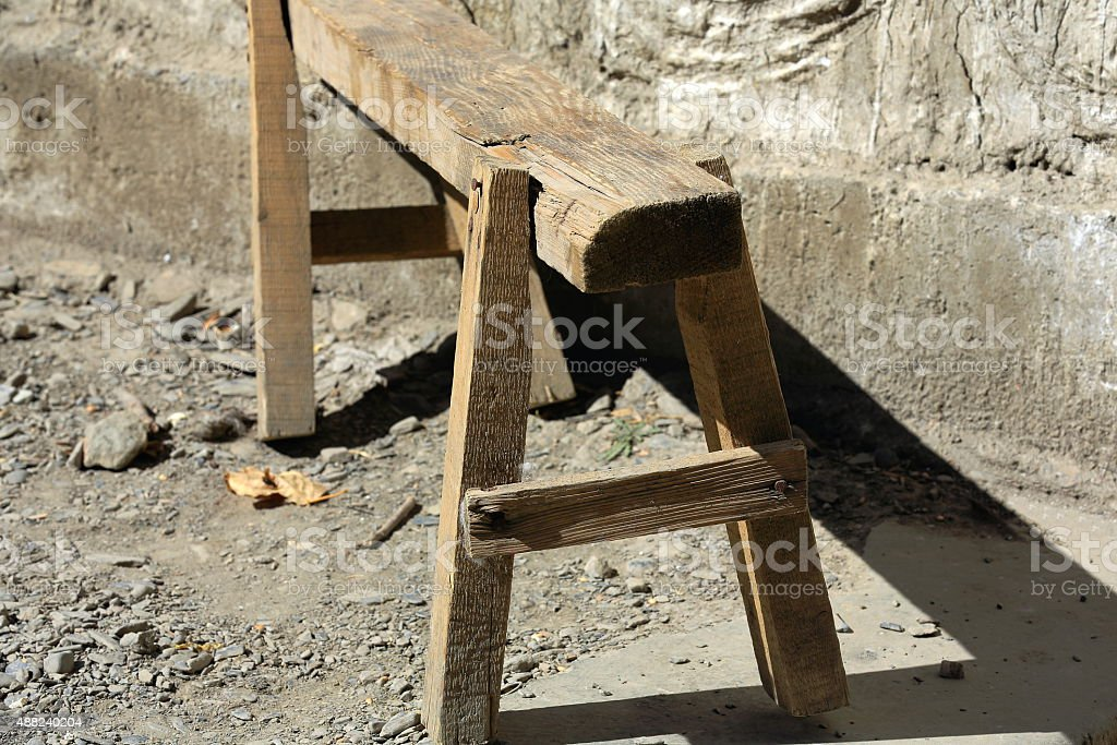 Wooden trestle-Gepelwater Mill. South Friendship Higway-Tibet. 1655 stock photo