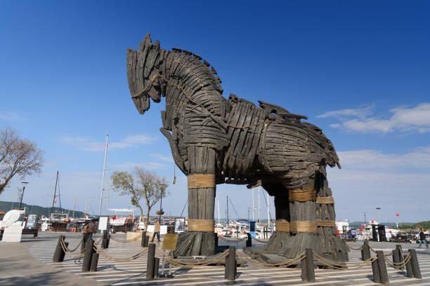 Hölzernes Trojanisches Pferd in Canakkale, Türkei – Foto