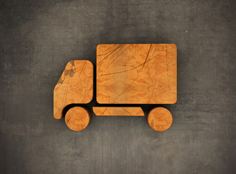 Wooden Truck Symbol on The Wall