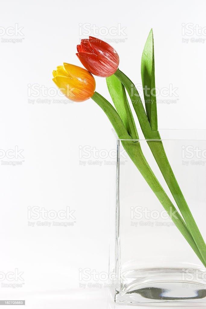 wooden tulips stock photo