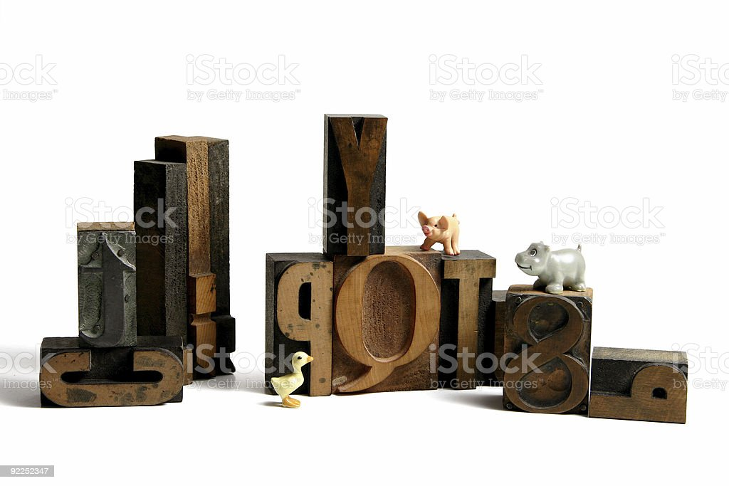 Wooden type royalty-free stock photo