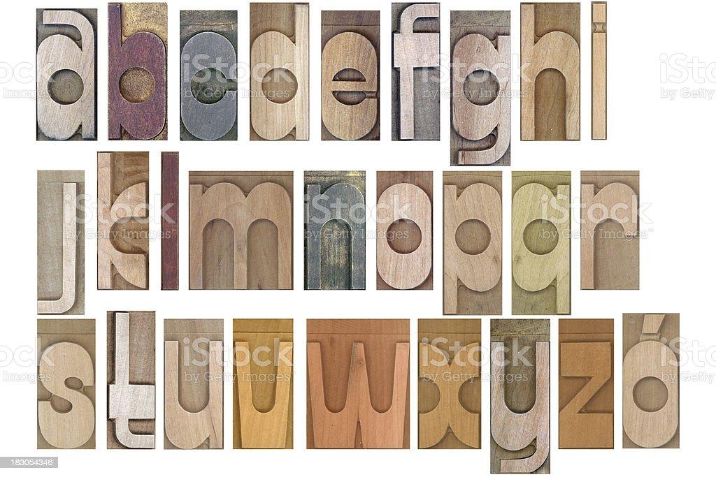 wooden typeset alphabet royalty-free stock photo