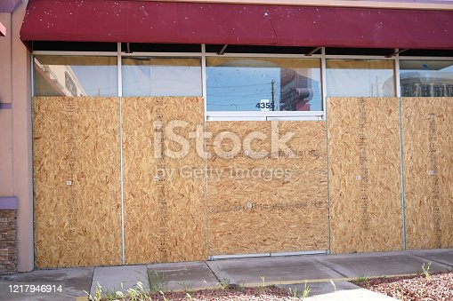 shot of wooden in front of store